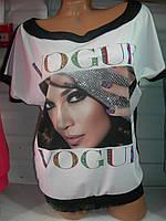 Футболка женская Турция полубатал Vogue