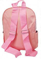 Рюкзак детский Сердце прозрачное с блестками 704, фото 3