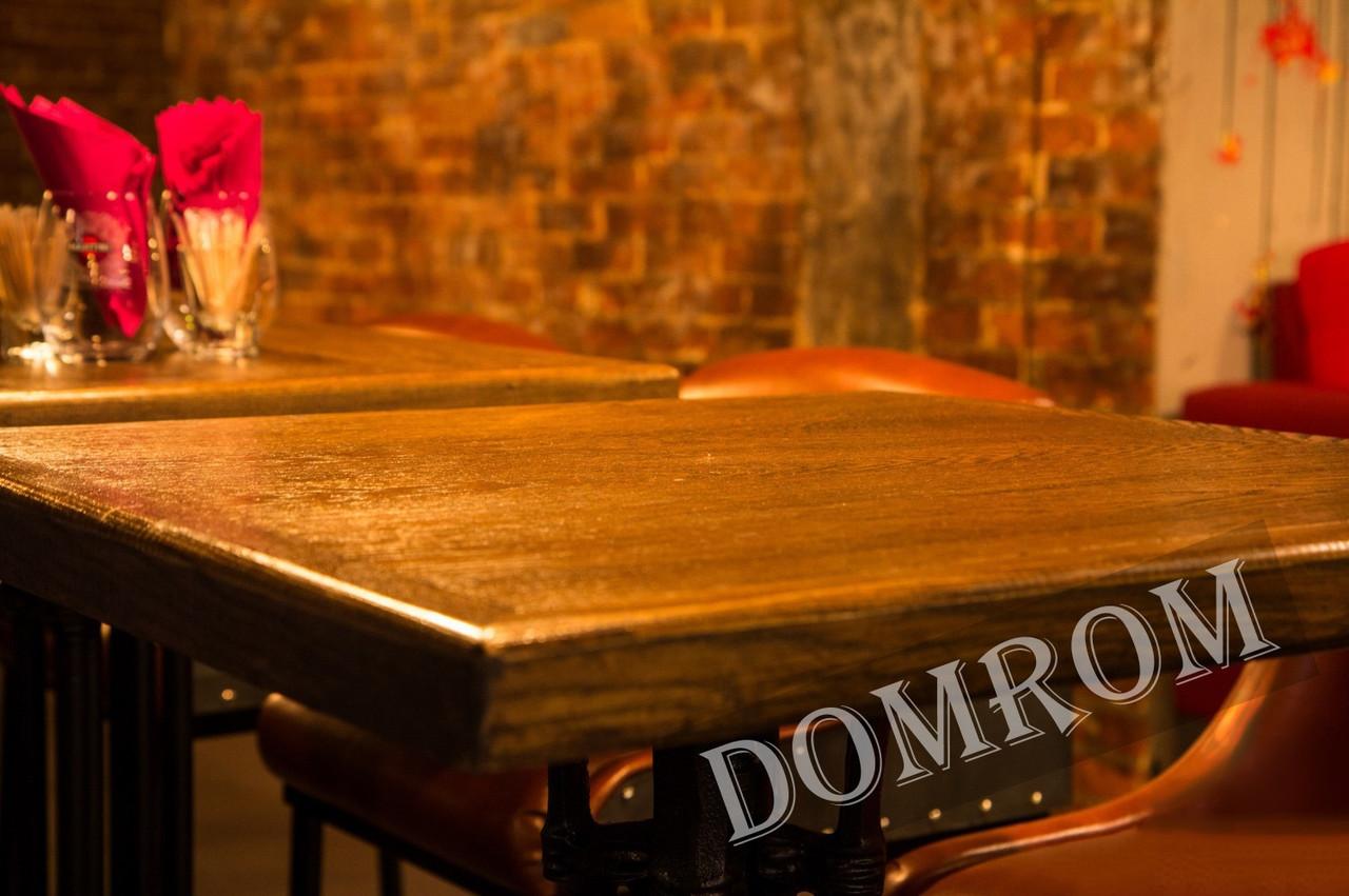 Деревянные массивные столешницы для ресторанов от производителя