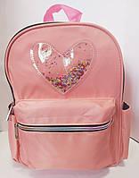 Рюкзак детский Сердце прозрачное с блестками 704, фото 1