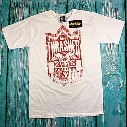 Футболка Thrasher белая • Бирки ориг