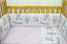 """Детское постельное белье в кроватку """"Карапуз"""" комплект 7 ед. (мишка игрушки розовый), фото 3"""