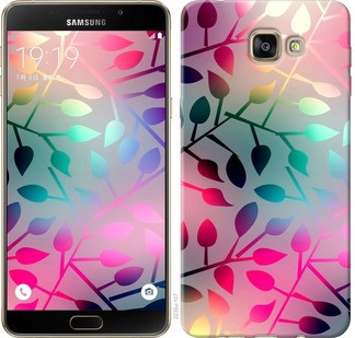 "Чехол на Samsung Galaxy A9 Pro Листья ""2235u-724-19380"""