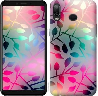 "Чехол на Samsung Galaxy A6s Листья ""2235u-1604-19380"""