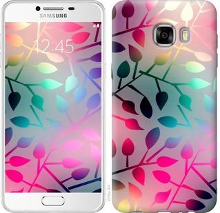 """Чехол на Samsung Galaxy C7 C7000 Листья """"2235u-302-19380"""""""