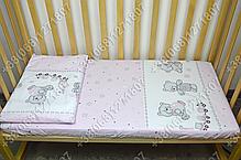 """Детское постельное белье в кроватку """"Бим Бом"""" комплект 6 ед. (мишка игрушки розовый), фото 3"""