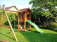 Детская площадка с горкой и качелями для детей