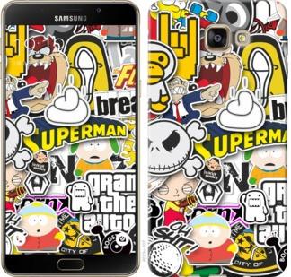 "Чехол на Samsung Galaxy A9 Pro Popular logos ""4023u-724-19380"""
