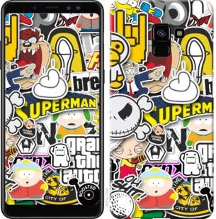 "Чехол на Samsung Galaxy A8 Plus 2018 A730F Popular logos ""4023c-1345-19380"""