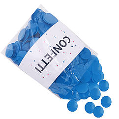Конфетти Кружочки большие голубые 250 г