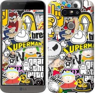 "Чехол на LG G5 H860 Popular logos ""4023c-348-19380"""