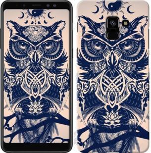 "Чехол на Samsung Galaxy A8 Plus 2018 A730F Узорчатая сова ""4000c-1345-19380"""