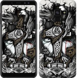 "Чехол на Samsung Galaxy A8 2018 A530F Тату Викинг ""4098c-1344-19380"""