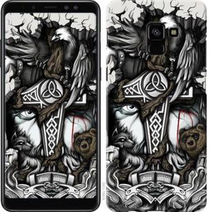 "Чехол на Samsung Galaxy A8 Plus 2018 A730F Тату Викинг ""4098c-1345-19380"""