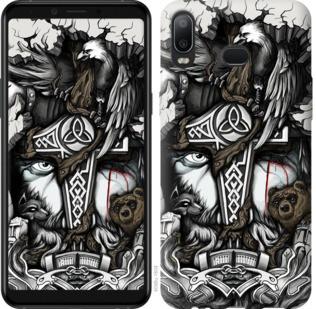 "Чехол на Samsung Galaxy A6s Тату Викинг ""4098u-1604-19380"""