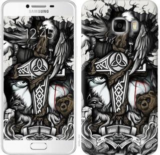 "Чехол на Samsung Galaxy C7 C7000 Тату Викинг ""4098u-302-19380"""