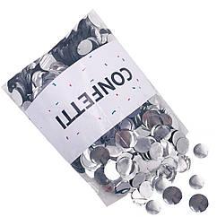 Конфетти Кружочки фольгированные серебро 250 г маленькие