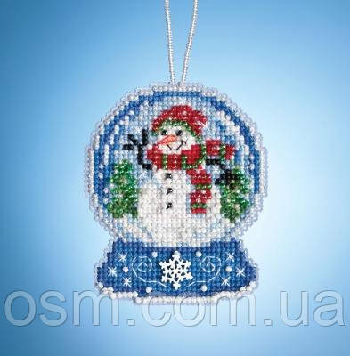 Набор для вышивки Snowman Globe Mill Hill