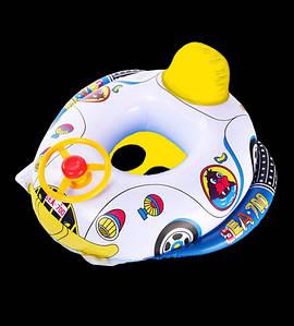 Детская надувная лодка Машинка с рулем(Д1-203)
