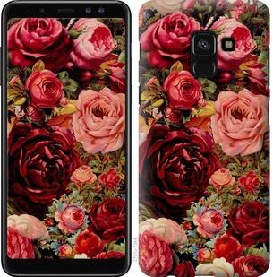 """Чехол на Samsung Galaxy A8 2018 A530F Цветущие розы """"2701c-1344-19380"""""""