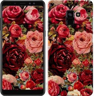 """Чехол на Samsung Galaxy A8 Plus 2018 A730F Цветущие розы """"2701c-1345-19380"""""""