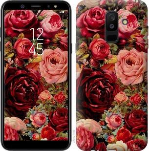 """Чехол на Samsung Galaxy A6 Plus 2018 Цветущие розы """"2701c-1495-19380"""""""
