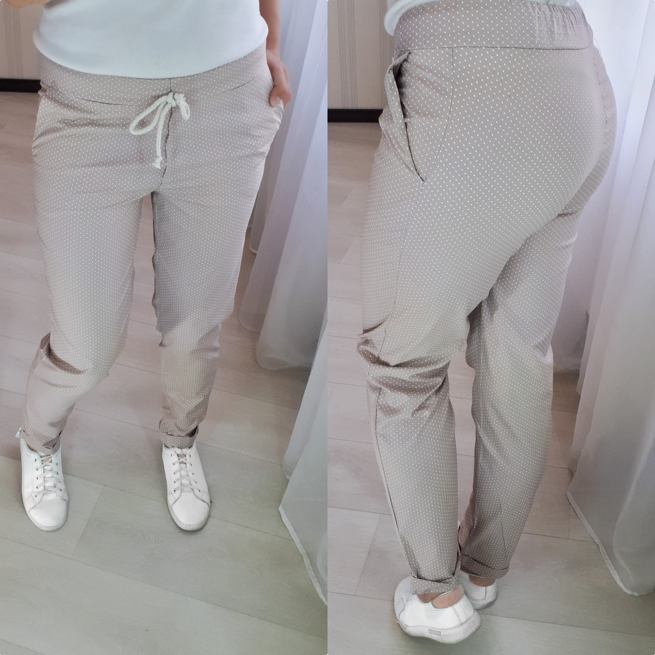 Женские модные брюки  ХЗ065 (норма / бат)