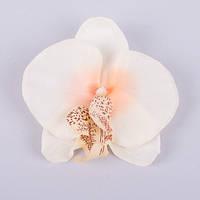 Головка орхидеи персиковая 9 см Цветы искусственные