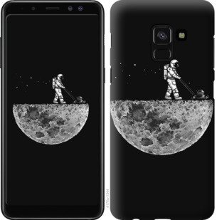 "Чехол на Samsung Galaxy A8 2018 A530F Moon in dark ""4176c-1344-19380"""