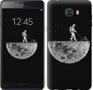 "Чехол на Samsung Galaxy C9 Pro Moon in dark ""4176u-720-19380"""