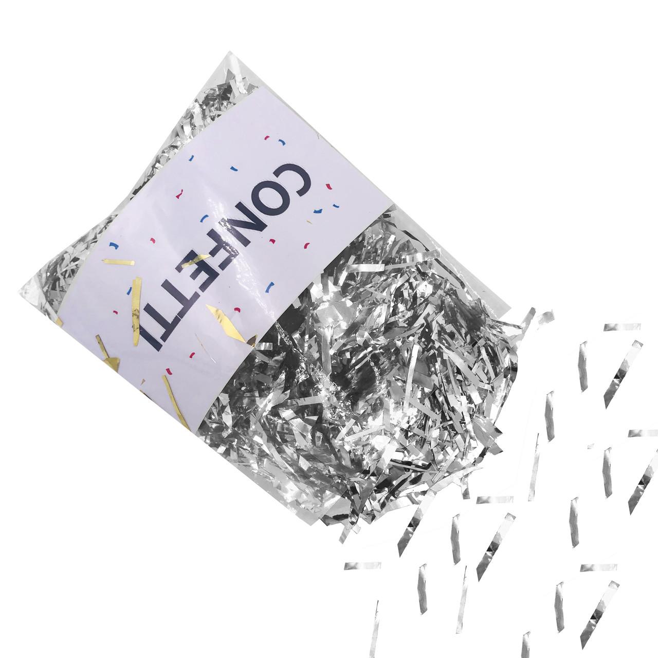 Конфетти Мишура фольгированные серебро 50 г