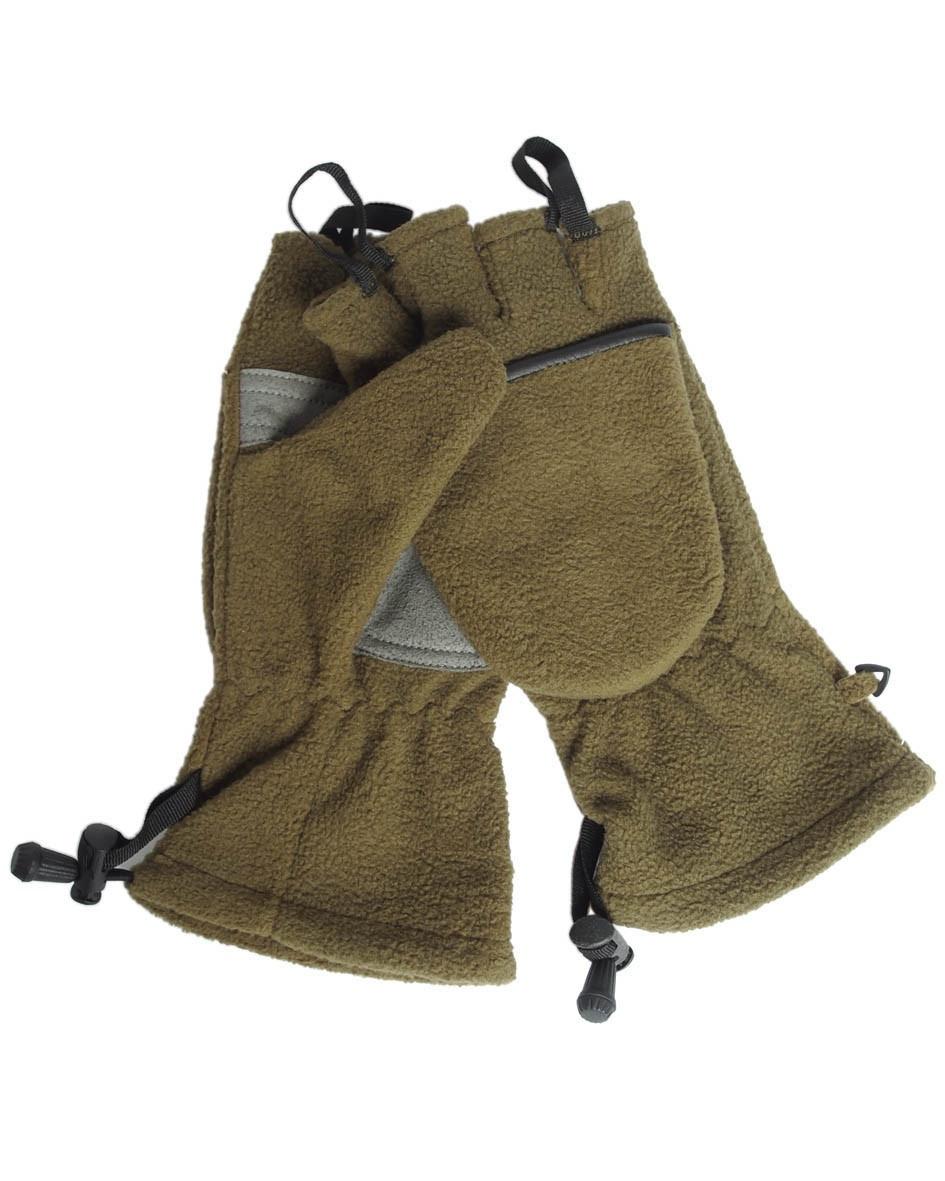 Флисовые перчатки-варежки, с петлями, MilTec Olive 12546001
