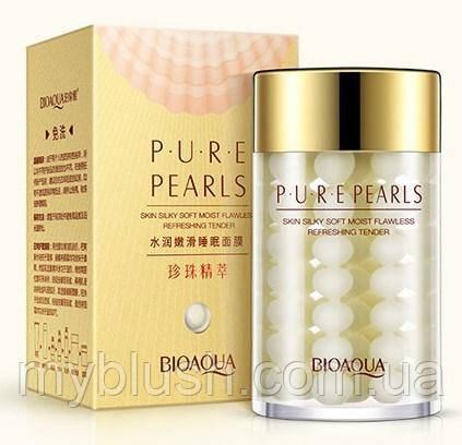 Ночная питательная маска для лица Bioaqua Pure Pearls с натуральной жемчужной пудрой , 120 g