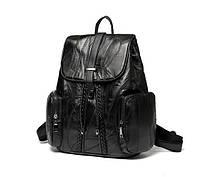 Рюкзак женский кожаный цвет черный Comfort Style.
