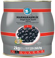 Турецкие оливки черные с косточкой (маслины) 2 кг Marmarabirlik L