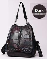 Рюкзак женский кожаный Patchwork