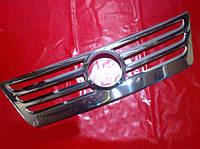 Хром накладка на решетку для Volkswagen Caddy 2004-2010 г.в., Фольксваген Кадди 2004-2010 г.в.