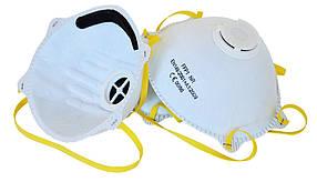Маска защитная Technics с клапаном белая 3 шт (16-416)