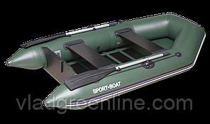 Надувная моторная лодка со сланевым дном Discovery 260х125 см (весло алюминиевые разборные,слань-5)