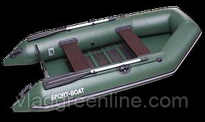 Надувная моторная лодка со сланевым дном Discovery 290х135 см (весло алюминиевые,слань-5 секций)