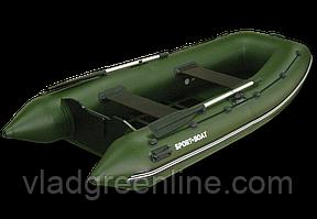 Моторная лодка с килевым днищем Альфа (310х145 см) слань-5