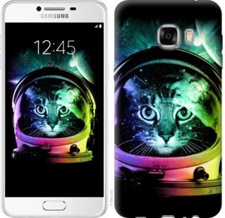 "Чехол на Samsung Galaxy C7 C7000 Кот-астронавт ""4154u-302-19380"""