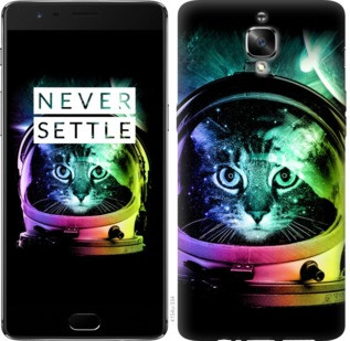 "Чехол на OnePlus 3T Кот-астронавт ""4154c-1617-19380"""
