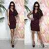 Платье с красивым плечом ,ткань: стрейч-костюмка. Размер:С,М. Разные цвета. ( М136), фото 4