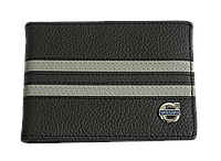 Кожаная обложка для прав Carrs с логотипом VOLVO черная (2VOL23)