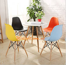 Черный стул на деревянных ножках с пластиковым сидением Nik для баров, кафе, ресторанов, квартир, фото 2