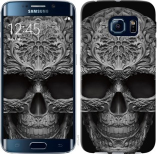 "Чехол на Samsung Galaxy S6 Edge G925F skull-ornament ""4101c-83-19380"""