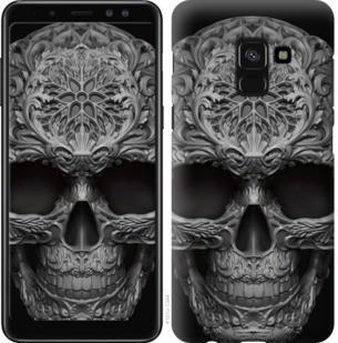 "Чехол на Samsung Galaxy A8 2018 A530F skull-ornament ""4101c-1344-19380"""