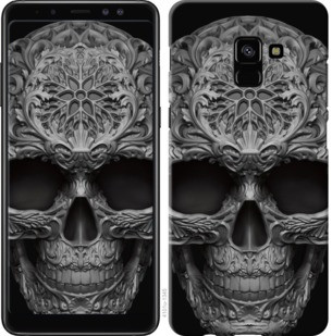 "Чехол на Samsung Galaxy A8 Plus 2018 A730F skull-ornament ""4101c-1345-19380"""