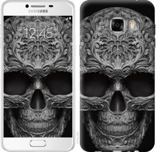 "Чехол на Samsung Galaxy C7 C7000 skull-ornament ""4101u-302-19380"""